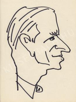 Rózsahegyi György - dr. Tímár Mátyás, a Magyar Nemzeti Bank elnökének portréja (1960-as évek)