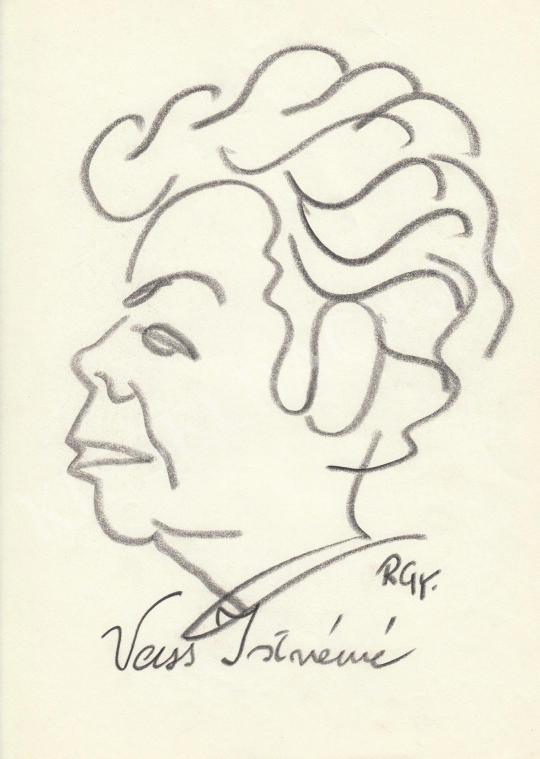 For sale  Rózsahegyi, György - Portrait of Istvánné Vass Politician 's painting