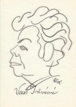 Rózsahegyi, György - Portrait of Istvánné Vass Politician