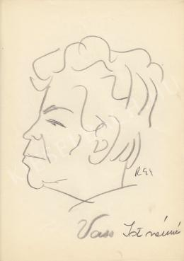 Rózsahegyi György - Vass Istvánné politikus portréja