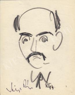 Rózsahegyi György - Vályi Péter politikus portréja (1970 körül)