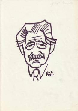 Rózsahegyi, György - Portrait of György Aczél Politician