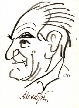 Rózsahegyi György - Alexits György matematikus portréja (1980-as évek)
