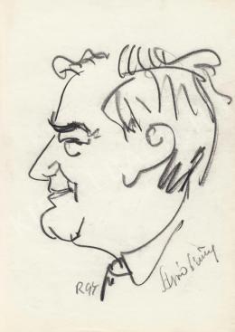 Rózsahegyi, György - Portrait of Antal Apró Politician