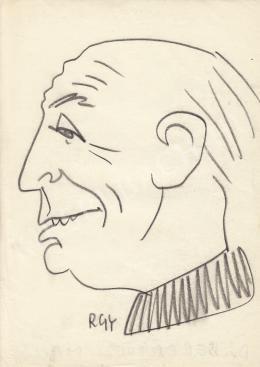 Rózsahegyi György - dr. Beresztóczy Miklós prépost, politikus portréja (1970 körül)
