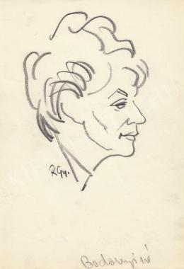 Rózsahegyi György - Bodonyi Pálné politikus portréja (1960-as évek)