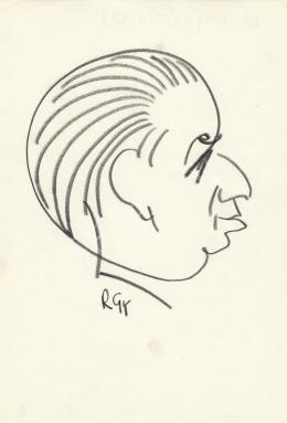 Rózsahegyi, György - Portrait of József Bognár Politician (1960s)
