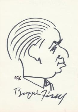 Rózsahegyi, György - Portrait of József Bognár Politician