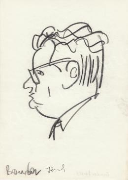 Rózsahegyi, György - Portrait of József Bondor Politician (1960s)