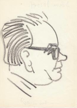 Rózsahegyi, György - Portrait of József Bondor Politician