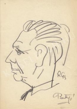 Rózsahegyi György - Brutyó János politikus portréja (1960-as évek)