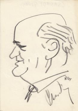 Rózsahegyi, György - Portrait of György Csanády dr. Poet, Journalist