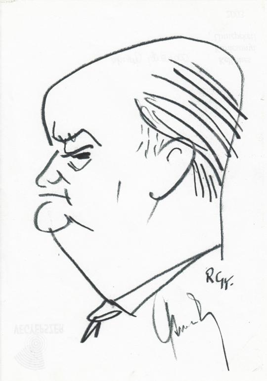 Eladó  Rózsahegyi György - dr. Csanády György költő, újságíró portréja festménye