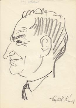 Rózsahegyi György - Cselötei László kertészmérnök portréja (1960-as évek)