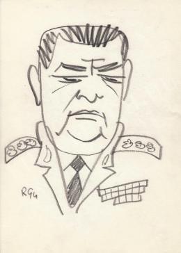 Rózsahegyi, György - Portrait of Lajos Czinege Politician
