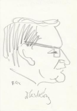 Rózsahegyi György - dr. Csikós Nagy Béla közgazdász portréja