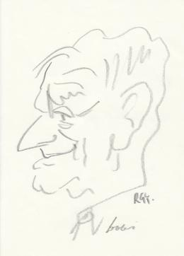 Rózsahegyi György - Dobi István miniszterelnök portréja