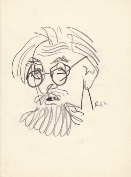 Eladó  Rózsahegyi György - Dutka Ákos költő, újságíró portréja festménye