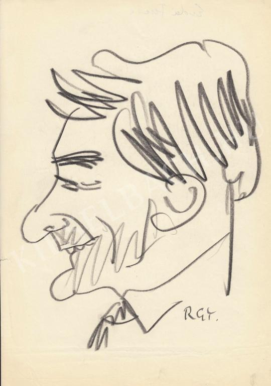 Eladó  Rózsahegyi György - Erdei Ferenc szociológus portréja festménye