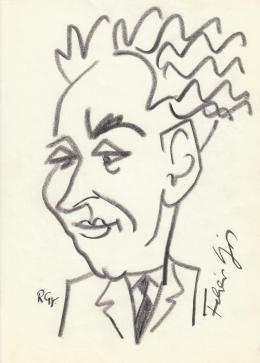 Rózsahegyi, György - Portrait of Lajos Fehér Politician, Journalist