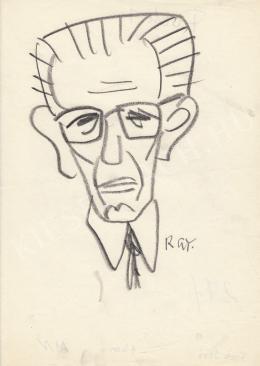 Rózsahegyi, György - Portrait of Jenő Fock Politician