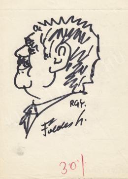Rózsahegyi György - Földes László énekes portréja (1970-es évek)