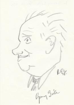 Rózsahegyi György - dr. Gervai Béla főtitkár portréja