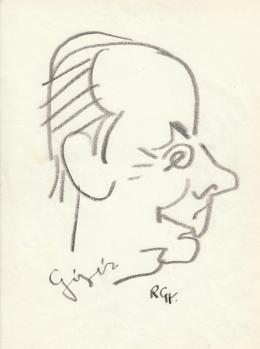 Rózsahegyi, György - Portrait of Unidentified Hungarian Celebrity (1970s)
