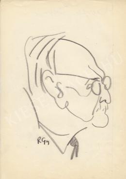 Rózsahegyi, György - Portrait of Unidentified Hungarian Celebrity