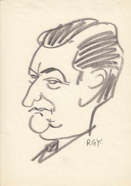 Rózsahegyi György - Horgas Béla költő, író portréja (1970-es évek)