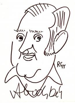Rózsahegyi György - Abody Béla kritikus, író, humorista, szerkesztő portréja (1970-es évek)