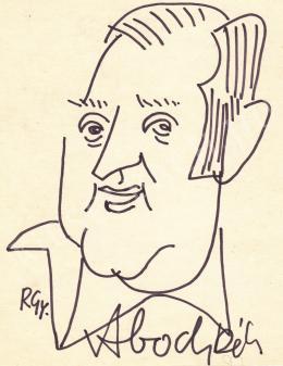 Rózsahegyi, György - Portrait of Béla Abody Critic, Writer, Humorist, Editor