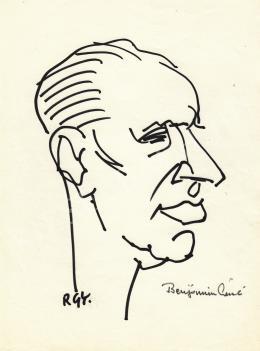 Rózsahegyi, György - Portrait of László Benjámin Poet, Editor