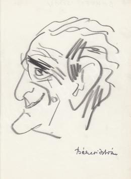 Rózsahegyi, György - Portrait of István Békeffi Writer