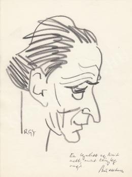 Rózsahegyi György - Bor Ambrus író portréja (1980 körül)