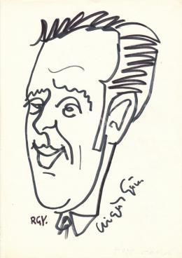 Rózsahegyi, György - Portrait of György Czigány Poet, Writer, Editor, Journalist, Anchorman