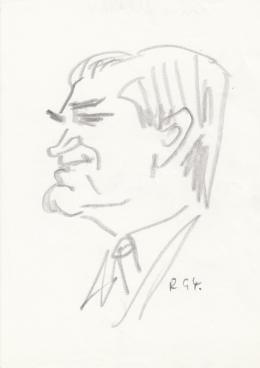 Rózsahegyi, György - Portrait of Mihály Czine Critic
