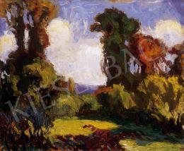 Balla Béla - Őszi napsütés Nagybányán, 1926