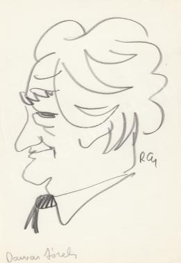 Rózsahegyi György - Darvas József író, politikus portréja