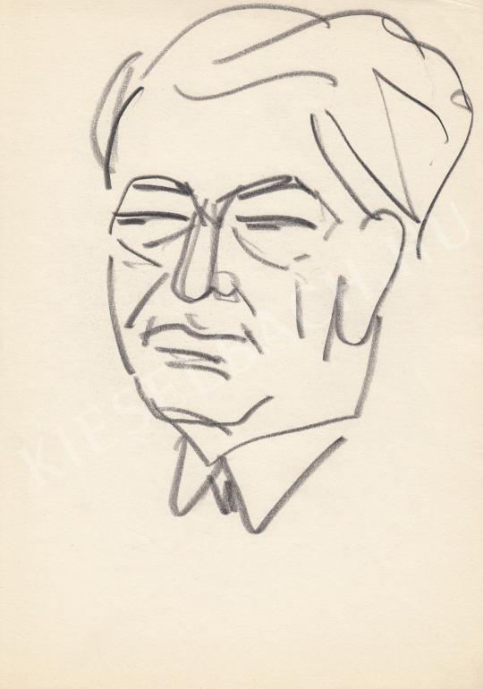 Eladó  Rózsahegyi György - Darvas József író, politikus portréja festménye