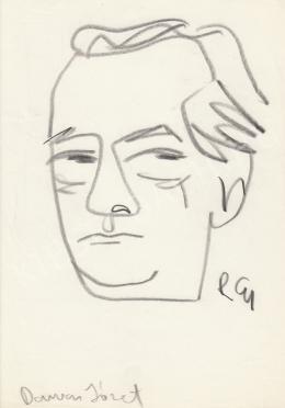 Rózsahegyi, György - Portrait of József Darázs Politician, Writer (c. 1970)