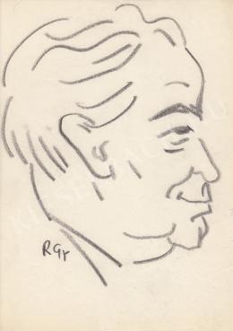 Rózsahegyi György - Darvas József író, politikus portréja (1970 körül)