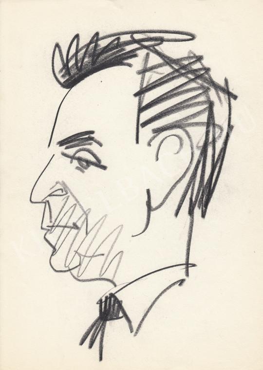 Eladó  Rózsahegyi György - Devecseri Gábor költő, író, nyelvész portréja festménye