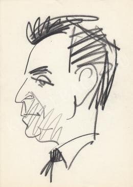 Rózsahegyi, György - Portrait of Gábor Devecseri Poet, Writer, Philologist