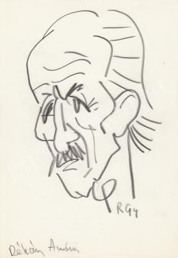Rózsahegyi György - Dékány András író portréja (1970-es évek)