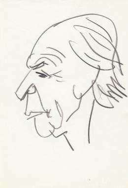 Rózsahegyi, György - Portrait of Tibor Déry Writer