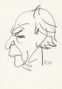 Rózsahegyi György - Déry Tibor író portréja