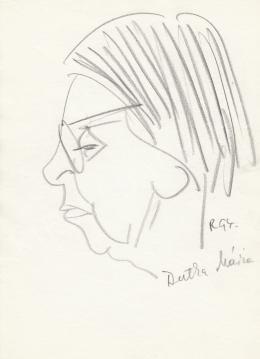 Rózsahegyi, György - Portrait of Mária Dutka Art Historian (1970s)