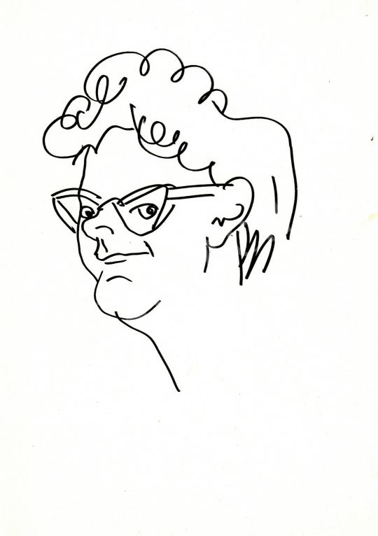 For sale  Rózsahegyi, György - Portrait of Klára Fehér Writer, Journalist 's painting