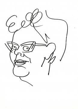 Rózsahegyi, György - Portrait of Klára Fehér Writer, Journalist